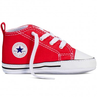 Converse Kids Newborn red chuck taylor first star babyshoes by Converse Kids 88875conv19