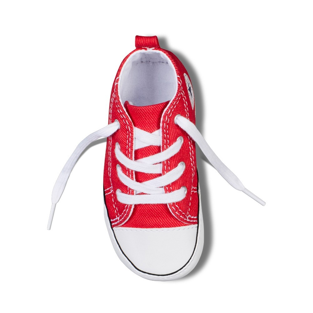 8a64f5d69e08 ... Scarpa neonati rossa chuck taylor first star by Converse Kids ...