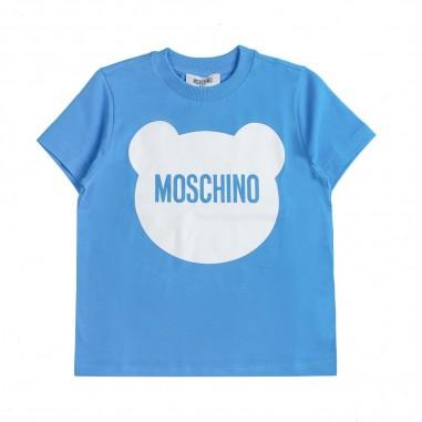 Moschino Kids Boy blue logo t-shirt by Moschino Kids HUM02G-LBA00-BLU