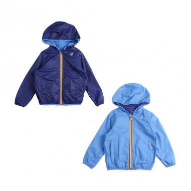 140427a2a11 Azure & blue windbreaker jacket by K-way Kids