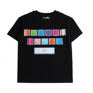Jeremy Scott Kids T-shirt nera per bambini by Jeremy Scott Kids j5m002lba0060100