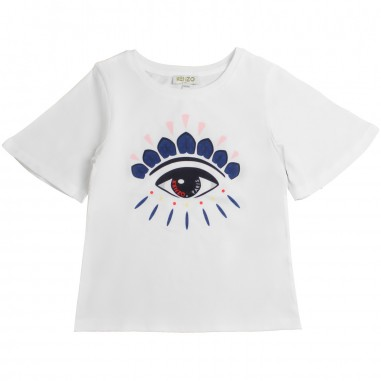 590414af Kenzo Girls white eye print t-shirt by Kenzo Kids KN101281kenzo19