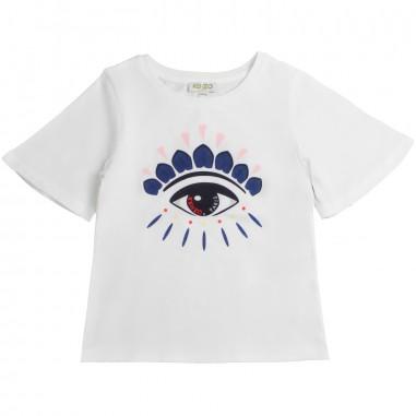 Kenzo T-shirt bianca disegno occhio per bambina by Kenzo Kids KN101281kenzo19