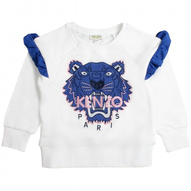 Kenzo Girls white tiger sweatshirt by Kenzo Kids KN150981kenzo19