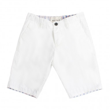 Myths Boys white bermuda shorts by Myths 51b0201my19