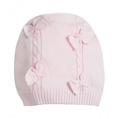 Monnalisa Baby girls pink bows hat by Monnalisa 353010-0090-monnalisa19