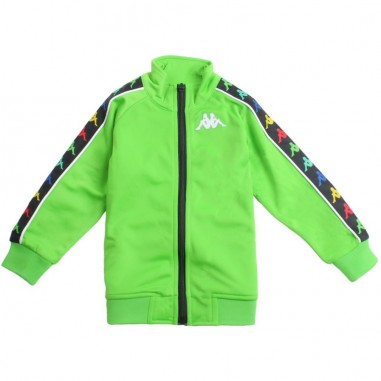 Kappa Kids Unisex green logo sidebands zip up sweatshirt - Kappa Kids 304kec0c76kappa19
