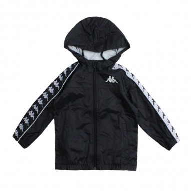 Kappa Kids Unisex black nylon jacket - Kappa Kids 303wa70971kappa19