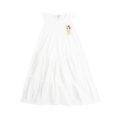Dixie Kids Girl white jersey dress by Dixie ab65030g16dixie19