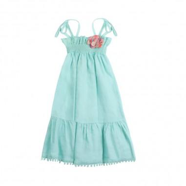 Dixie Kids Abito bambina lino turchese by Dixie Kids ab56300g16dixie19