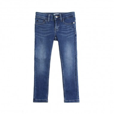 Calvin Klein Jeans Kids Boys blue slim denim jeans by Calvin Klein Kids IB0IB00153-ck29