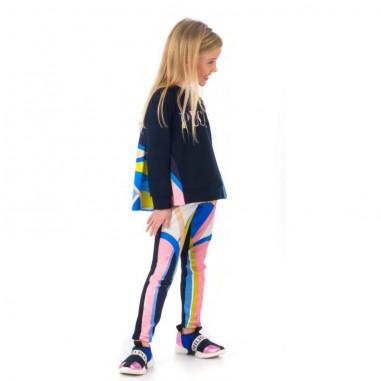 Emilio Pucci Junior Felpa blu per bambina by Emilio Pucci Kids 9L4077-LC980620pucci29