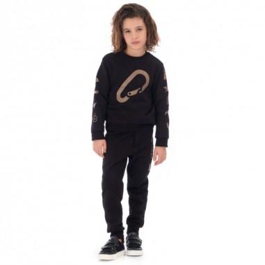 Lanvin Kids Pantalone tuta nero per bambino by Lanvin Junior 4L6000-LX080930BGlanvin29