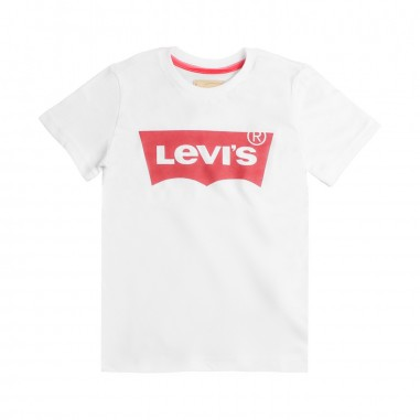 Levi's T-shirt bianca basica con logo per bambini by Levi's Kids n91004h01levis19