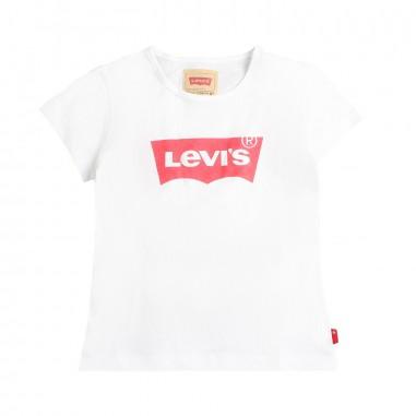 Levi's T-shirt bianca con logo per bambina by Levi's Kids n91050j01levis19