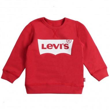 Levi's Felpa rossa basica con logo batwi by Levi's Kids n91500j03levis19