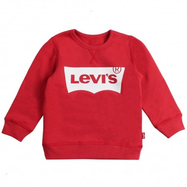 Levi's Red basic batwi logo sweatshirt by Levi's Kids n91500j03levis19