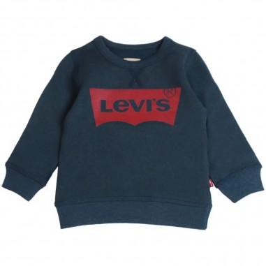 Levi's Felpa blu basica con logo batwi by Levi's Kids n91500j04levis19
