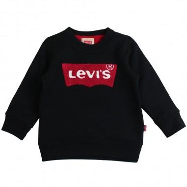 Levi's Felpa nera logo orsetto bambino boucling by Levi's Kids nn1513702levis19