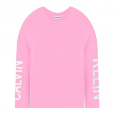Calvin Klein Jeans Kids T-shirt rosa over per bambina by Calvin Klein Junior IG0IG00220-ck29