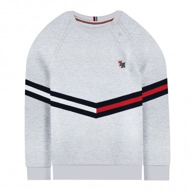 Tommy Hilfiger Kids Felpa bambino grigia by Tommy Hilfiger Junior KB0KB04953-to29