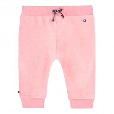 Tommy Hilfiger Kids Pantalone ciniglia rosa neonata by Tommy Hilfiger Junior KN0KN01080-to29