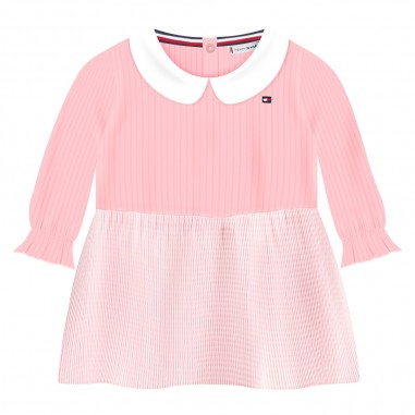 Tommy Hilfiger Kids Abitino & culotte rosa neonata by Tommy Hilfiger Junior KN0KN01038-to29