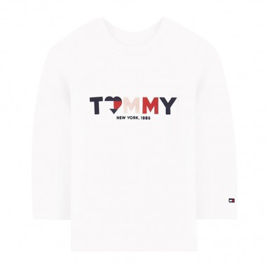 Tommy Hilfiger Kids T-shirt bianca neonata by Tommy Hilfiger Junior KN0KN01031-to29