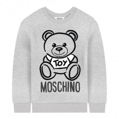 Moschino Kids Felpa grigia logo orsetto bambini by Moschino Kids h6f01q-lda1760901mosch29