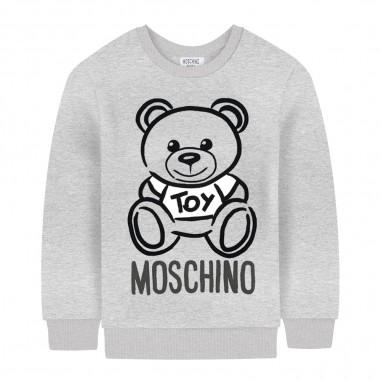 Moschino Kids Felpa grigia logo neonati by Moschino Kids mrf02p-lda1760901mosch29