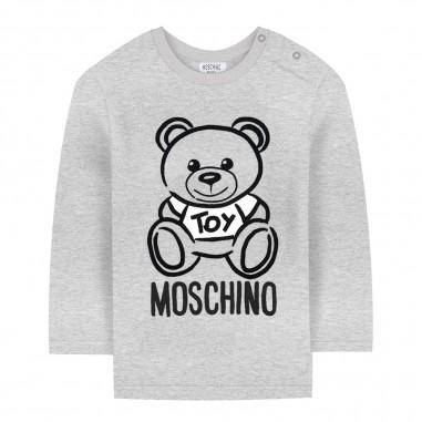 Moschino Kids T-shirt grigia teddy bear neonati by Moschino Kids mqm01v-laa1060901mosch29