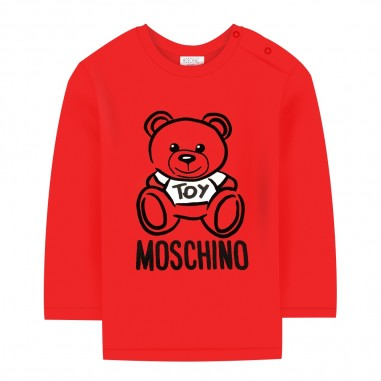 Moschino Kids T-shirt rossa orsetto neonati by Moschino Kids mqm01v-laa1050109mosch29