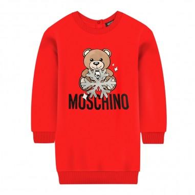 Moschino Kids Vestitino rosso neonata by Moschino Kids mev05t-lda1450109mosch29