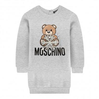 Moschino Kids Abito grigio orsetto neonata by Moschino Kids mev05t-lda1460901mosch29