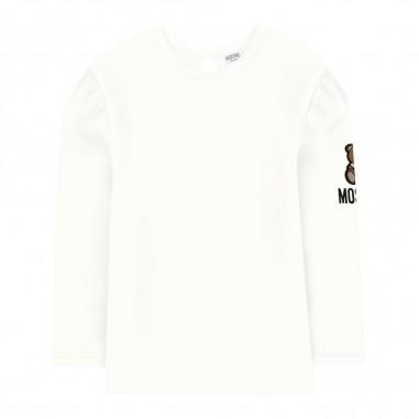 Moschino Kids T-shirt panna neonata by Moschino Kids mdm02j-lba1310063mosch29
