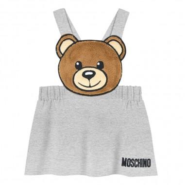 Moschino Kids Gonna grigia orsetto neonata by Moschino Kids mdj00u-lda1760901mosch29
