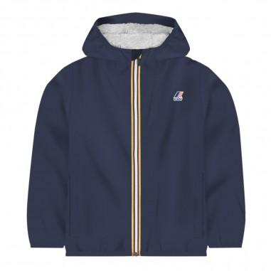 K-Way Unisex blue rain jacket le vrai 3.0 claudine by K-Way Kids k006cq0-k89kway29