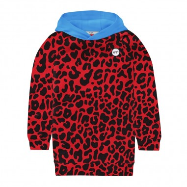 N.21 Kids Girls leopard maxi sweatshirt by N.21 Kids n21449-n0007n21s24f0n40an2129