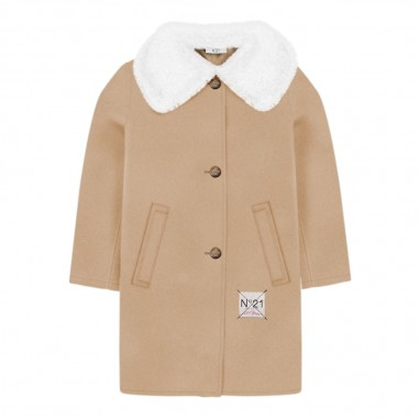 new concept 1e4db a13b7 Cappotto beige bambina by N.21 Kids