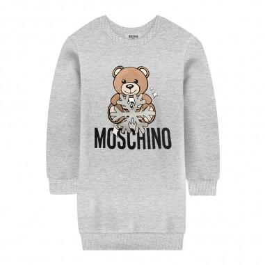 Moschino Kids Abito grigio teddy bear bambina by Moschino Kids hfv064-lda1460901mosch29