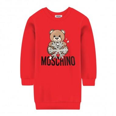Moschino Kids Abito rosso logo orsetto bambina by Moschino Kids hfv064-lda1450109mosch29