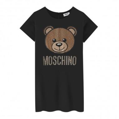 Moschino Kids Abito nero logo strass per bambina by Moschino Kids hdv07x-lja0260100mosch29