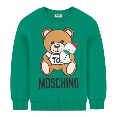 Moschino Kids Felpa verde logo orsetto per bambini by Moschino Kids h7f01q-lda1430242mosch29