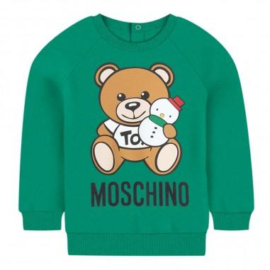 Moschino Kids Felpa verde orsetto neonati by Moschino Kids mof02n-lda1430242mosch29