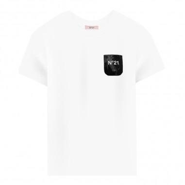 N.21 Kids T-shirt bianca bambina by N.21 Kids n2143n-n0003n21t19f0n100n2129