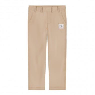 N.21 Kids Pantalone beige per bambino by N.21 Kids n2142j-n0030n21p1m0n700n2129