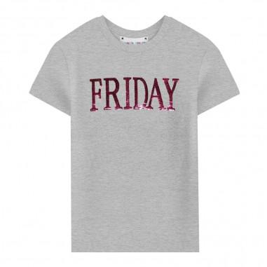 Alberta Ferretti Junior T-shirt grigia friday bambina by Alberta Ferretti Kids 020303-101albertaferretti29