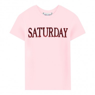 Alberta Ferretti Junior T-shirt rosa saturday bambina by Alberta Ferretti Kids 020303-042albertaferretti29