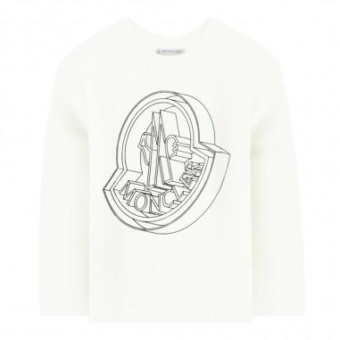 Moncler T-shirt panna bambini by Moncler Kids 9548027-05083092034moncler29