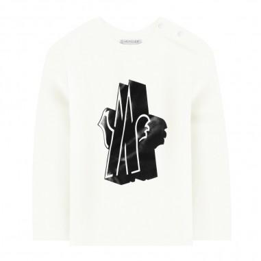 Moncler T-shirt panna neonati by Moncler Kids 9518028-45087275034moncler29